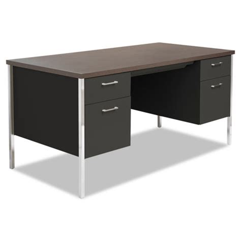alesd6030bw office alera 174 pedestal steel desk