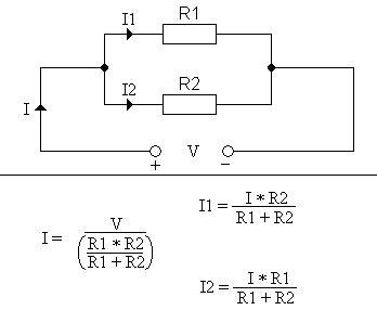 resistor values in voltage divider current divider