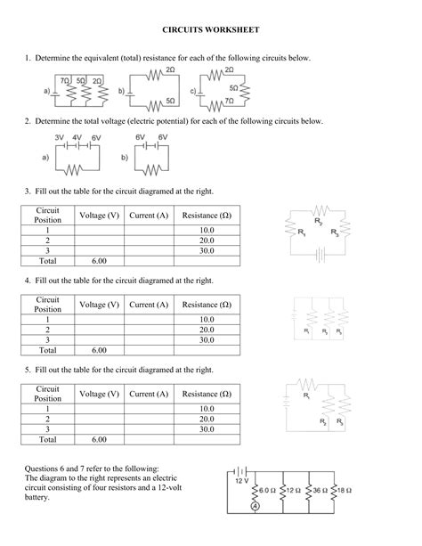 worksheet parallel circuit problems episode intrepidpath
