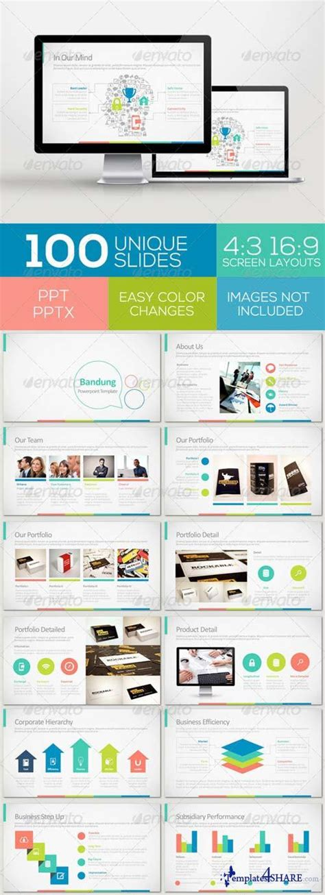 graphicriver bandung powerpoint template 187 templates4share