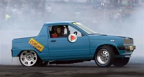 suzuki mighty boy insane tire shredding suzuki might boy mini ute with ls1