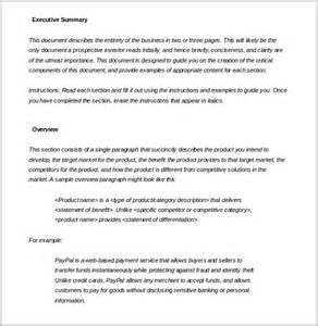 executive summary word template 31 executive summary templates free sle exle