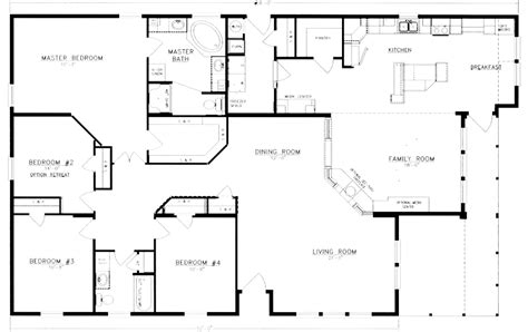 four bedroom floor plan floor plans and