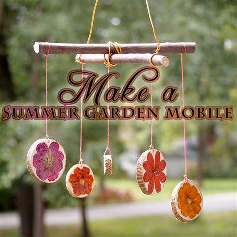 garden crafts for children make a spinning flower garden mobile woo jr