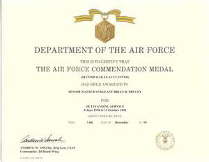 Air Commendation Medal Template by Service