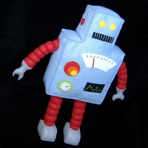 felt robot pattern retro robot plushie diy felt doll pdf pattern 5 99 via