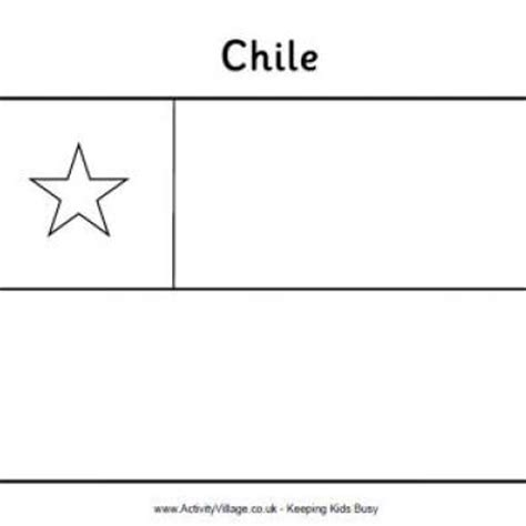 chilean flag printable coloring page chilean flag tip