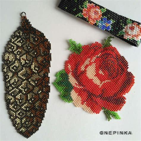 beadwork rose brooch beadwork flower brooch necklace