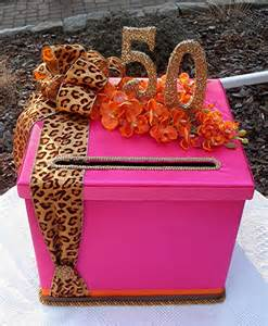 chic wedding 50th birthday box sweet sixteen wedding card money box your monogram leopard