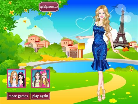 barbie doll house games dress up barbie in paris dress up game games for girls