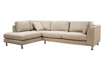Twill Fabric Modern Sectional Sofa Sterling Cream Twill Sectional Sofa