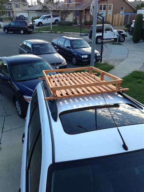 built  wood roof rack   bucks wooden roof rack pinterest roof rack  wood