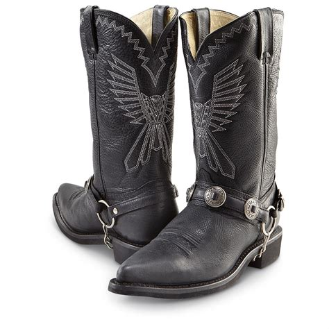 mens harness cowboy boots s durango 174 concho harness western boots black