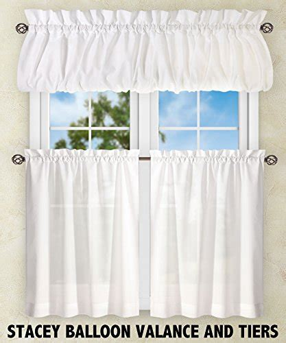 Ellis Curtain Stacey 56 by 36 Inch Tailored Tier Pair