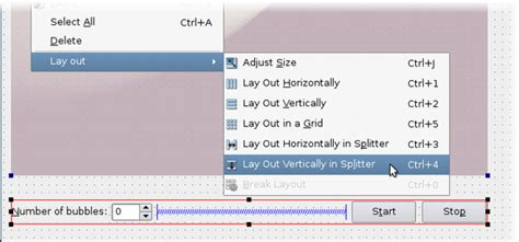qt designer layout horizontally in splitter using layouts in qt designer qt 4 8
