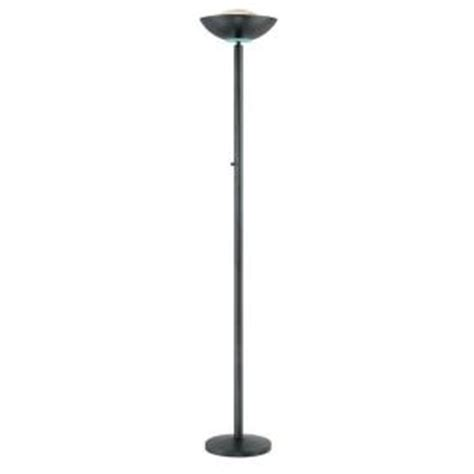 illumine designer collection 72 in black floor l cli ls 80910blk the home depot
