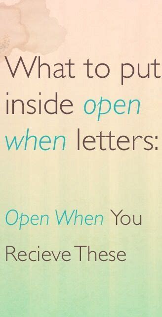 What To Put In Open When Letters