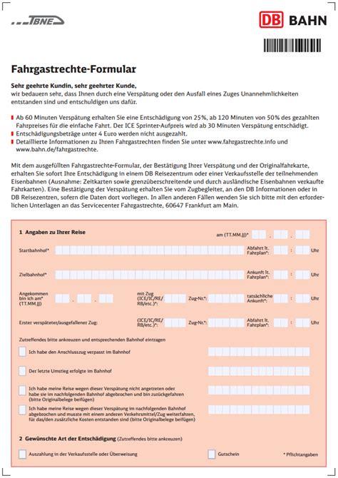 Musterbrief Beschwerde Deutsche Bahn Zug Erstattung De Deutsche Bahn Entsch 228 Digung Und Erstattung Beantragen Fahrgastrechte