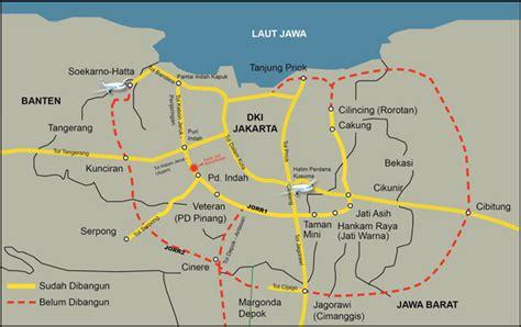 rute pintu tol jagorawi peta jalan kasar pintas tol bandara tol serpong tol