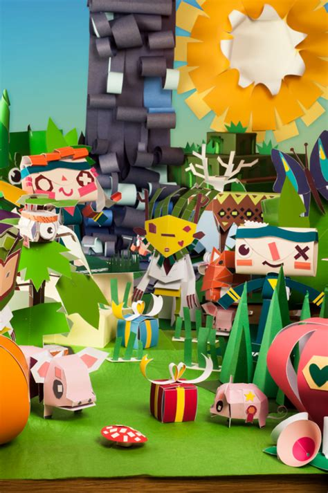 Papercraft World - building your own papercraft world with tearaway media