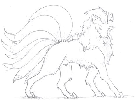 Nine Tailed Fox By Elegist On Deviantart Nine Tailed Fox Coloring Pages