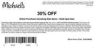 Barnes Noble Printable Coupons Michael S 30 Off Black Friday 2017 Coupon 2017 Coupons