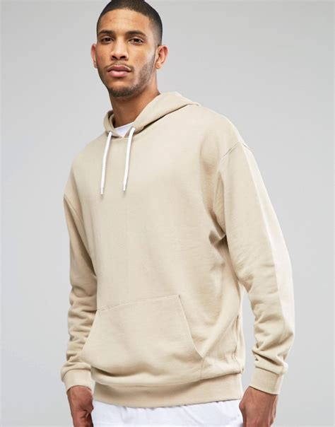 17571 Color Oversize S M Sale Dress shoptagr asos oversized hoodie in beige by asos