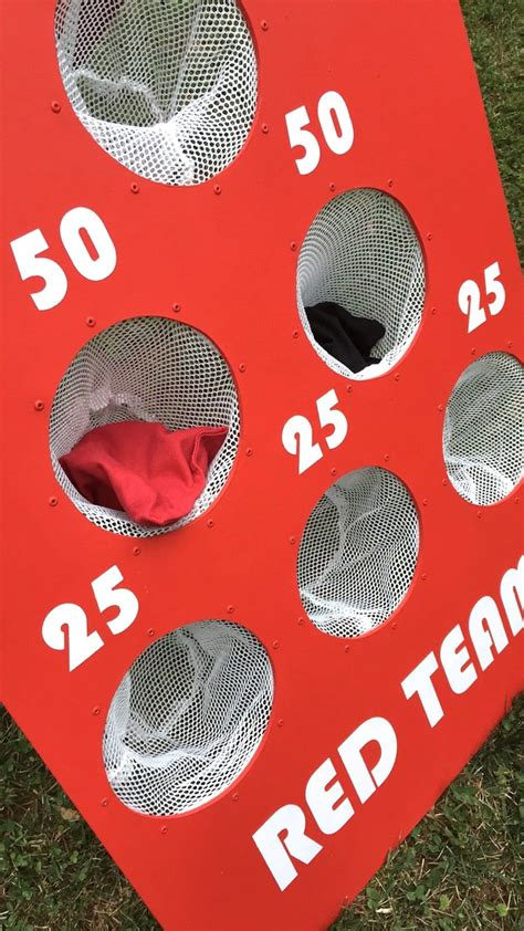 diy backyard bean bag toss game
