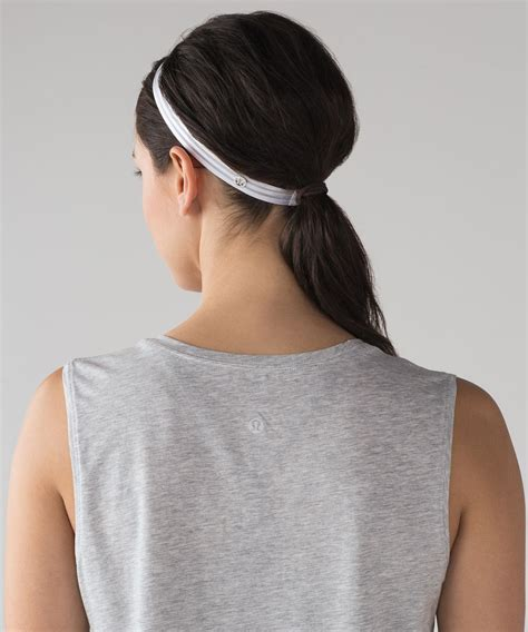 lululemon patterned headbands lululemon free flow headband white lulu fanatics