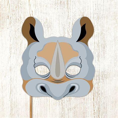 printable rhino mask 17 best images about party masks on pinterest wolf mask