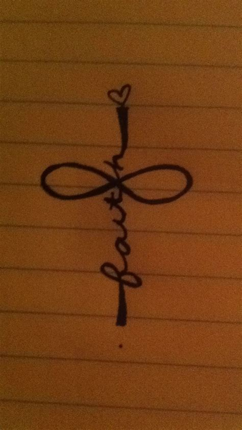 faith and cross tattoo tatssss pinterest