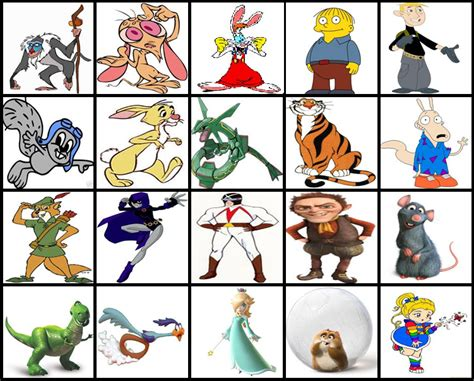 disney characters h r r cartoon characters by picture quiz by thejman