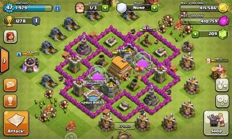 layout of coc town hall 6 which is the best base layout for town hall 6 on clash of