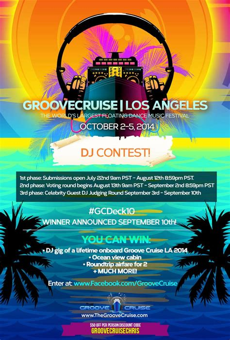 contest for 2014 dj contest details for groove cruise la 2014 groove