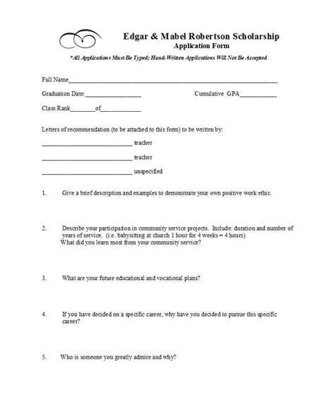 scholarship forms template 50 free scholarship application templates forms ᐅ