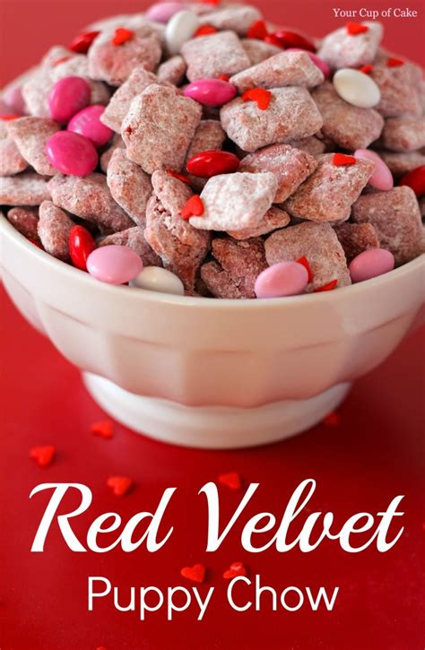 puppy chow snack recipe recipe velvet puppy chow s snack mojosavings