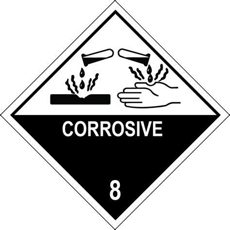 corrosive 8 100mm x 100mm 500 per roll online labels