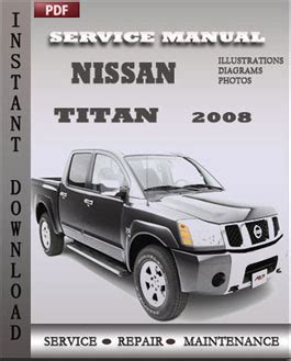 service manuals schematics 2008 nissan titan on board diagnostic nissan titan 2008 service repair manual instant download