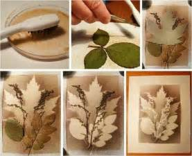Craft Projects Splatter Art With Layered Leaves Tree Art Projects For