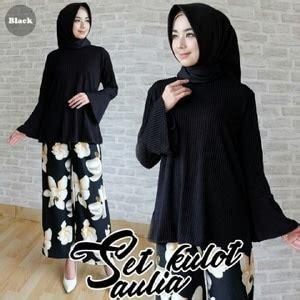 Set Kulot Ashanti Fashion Wanita Kulot Motif Bunga Stelan Jumbo Al baju muslim wanita setelan celana kulot motif bunga model terbaru