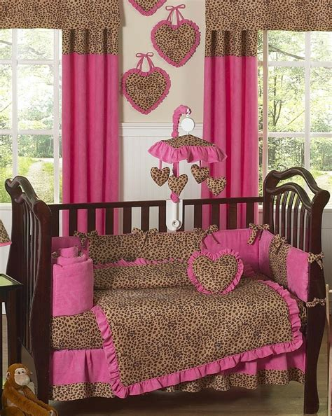 Pink Leopard Crib Bedding Baby Room Gorgeous Baby Nursery Room Decoration Using Pink Leopard Crib Bedding Baby