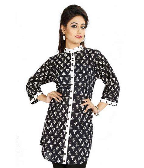 black and white kurti patterns jaipur kurtis pure cotton black short kurti price in india