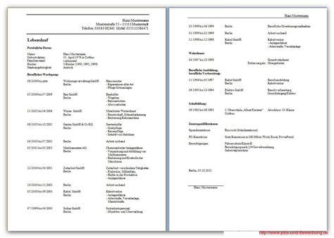Lebenslauf Muster Arbeit Lebenslauf Kostenlose Vorlagen Und Hilfreiche Infos