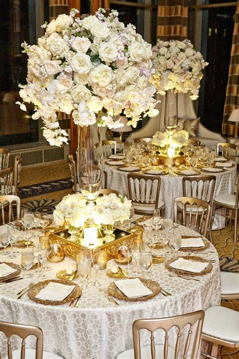 white and gold table decorations reception d 233 cor photos tablescape with white flower