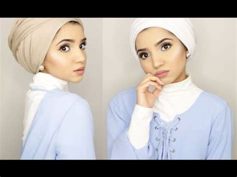 tutorial turban ascia turban hijab tutorials get the look dina tokio and
