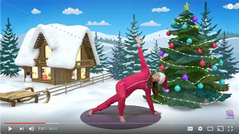 themes for christmas yoga 12 days of healthy christmas activities for families