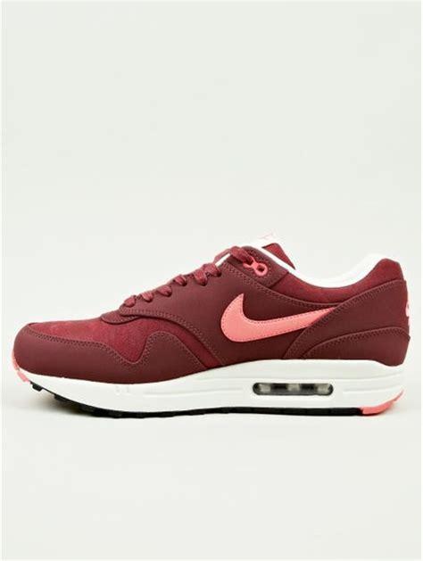 burgundy sneakers mens nike mens burgundy air max 1 prm sneakers in for