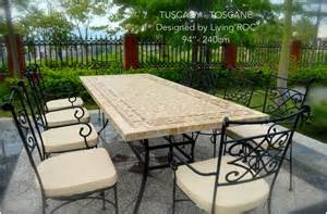 Outdoor Patio Table Tops 78 Quot Outdoor Patio Dining Table Italian Mosaic Marble Tuscany