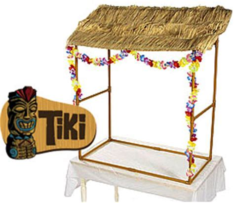 Tiki Hut Topper Tabletop Tiki Hut W Leis Grass Top Raffia For Hawaiian
