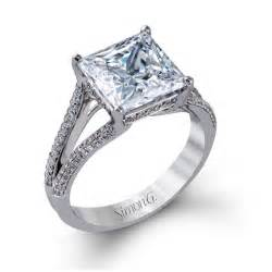 big engagement rings simon g style mr2257 white gold engagement ring with princess cut center engagement